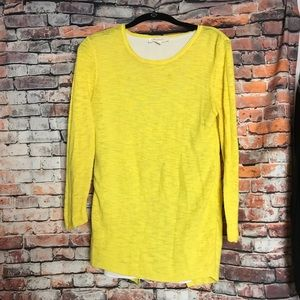 Two by Vince Camuto Split Back Yellow Sweater